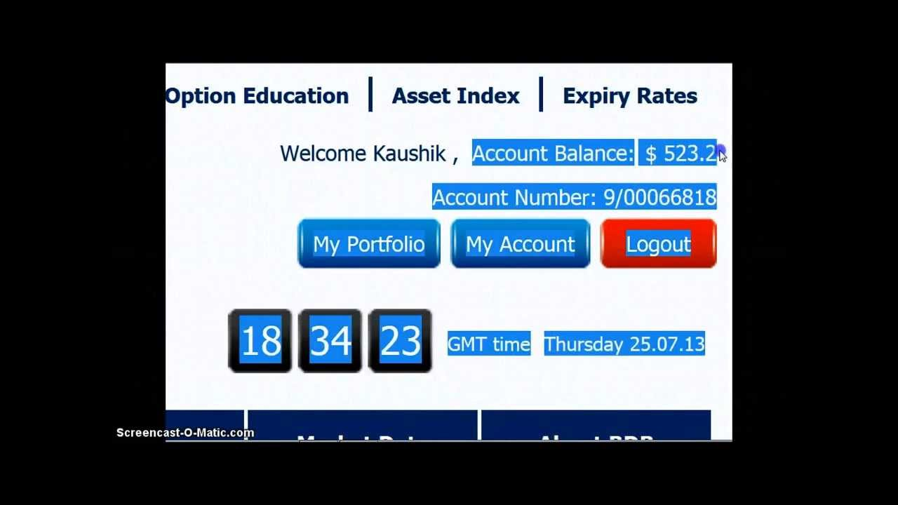 60 second binary options practice account