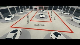 Roblox Vehicle Simulator Supercar Dealership Glitch!!!