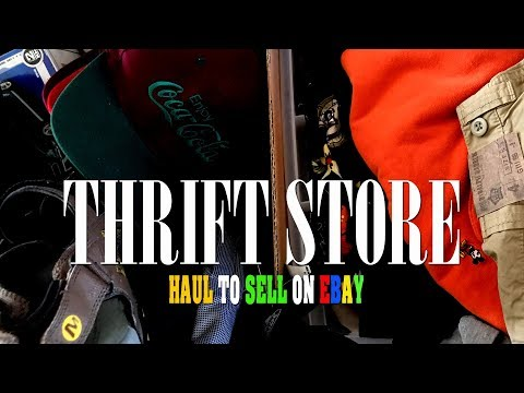 THIS IS HOW A ROCKSTAR THRIFTS TO SELL ON EBAY