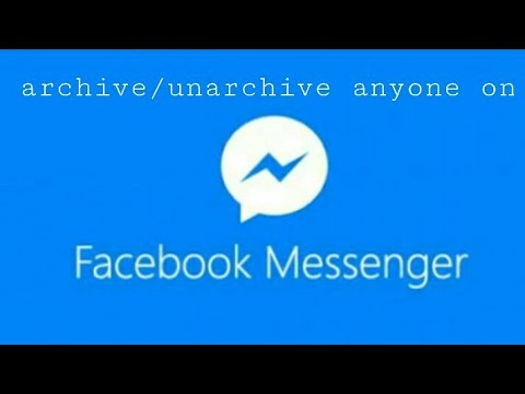 How to unarchive chat in facebook messenger app