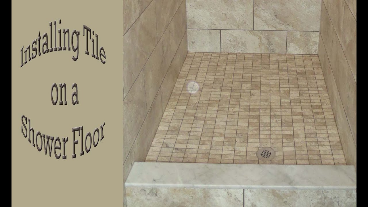 How to install a mosaic tile on a shower floor. - YouTube