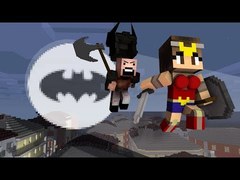 Thumbnail: Monster School: Justice League vs Notch - Minecraft Animation