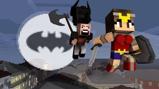 Monster School: Justice League vs Notch - Minecraft Animation