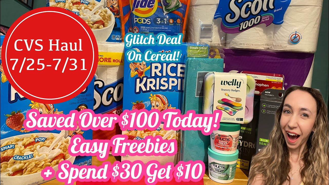 CVS COUPONING 7/25-7/31 | I GOT 15 ITEMS FOR FREE + A SPEND $30 GET $10 DEAL
