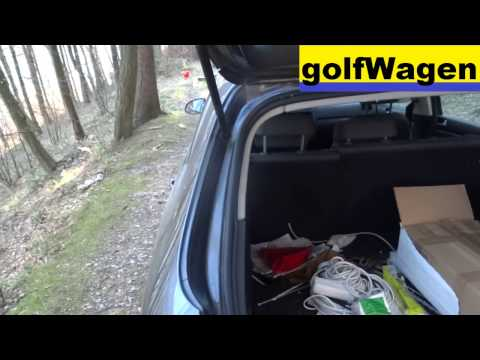 VW Golf 5 Variant - damper tailgate gas strut replace 1K9 827 550