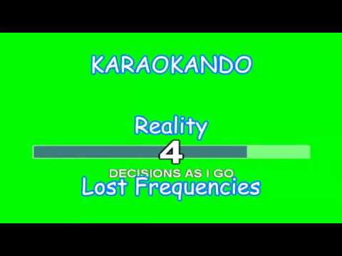 Karaoke Internazionale - Reality - Lost Frequencies ( Lyrics )