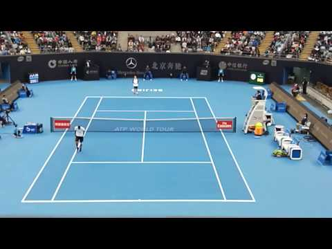 Nick KYRIGOS vs Steve DARCIS [China Open 2017 COURT LEVEL]
