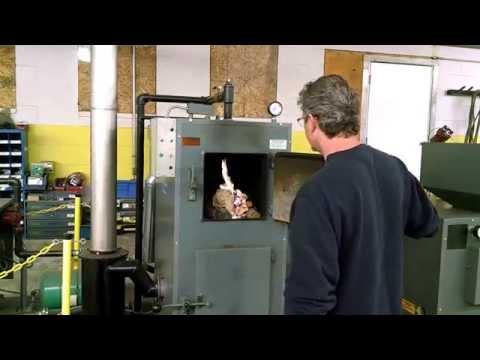 Lighting the Wood Gun Wood Gasification Boiler