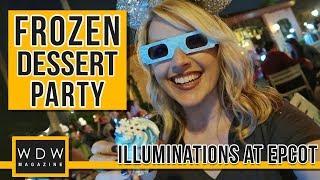 Epcot's Frozen Fireworks Dessert Party