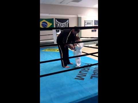 Mason Samuel receives his white belt