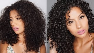 How to Deep Condition Curly Hair | Shea Moisture Manuka Honey | 3b Curls