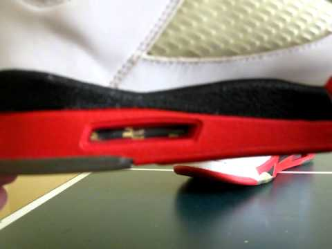 Jordan 5 Fire Red Repaint Restoration