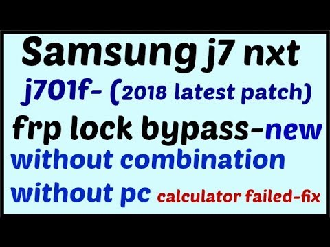 Samsung j701f (j7-nxt) frp unlock without combination file