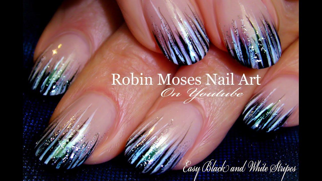 Easy Stripe Nails Tutorial Design Diy Nail Art For