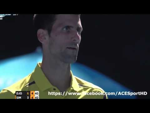 Novak Djokovic vs Gilles Simon Tennis Highlights 01/24/2016 [HD]