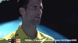 Novak Djokovic vs Gilles Simon Tennis Highlights 01/24/2016 [HD]