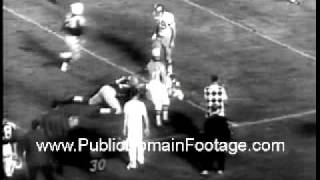 Philadelphia Eagles vs College All Stars 1961 Newsreel PublicDomainFootage.com