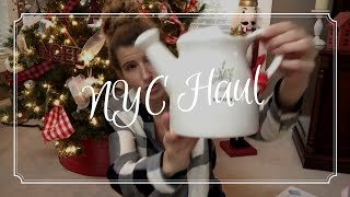 🎄🎄NEW YORK CITY CHRISTMAS HAUL🎄🎄//RAE DUNN, ANTHROPOLOGIE, HOME GOODS//TRADER JOE'S HAUL