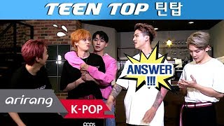 [Pops in Seoul] The Veteran Idols ! TEEN TOP(틴탑) Interview for 'Run Away(런 어웨이)'