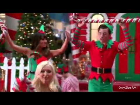 glee here comes santa claus full performance from previously unaired christmas - Glee Previously Unaired Christmas