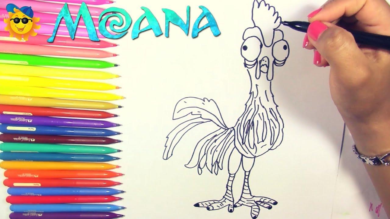 Como Dibujar A Hei Hei De Moana How To Draw Heihei The Rooster