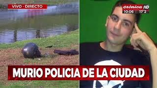 Auto chocó de contramano a policía en moto, cayó al Riachuelo y murió