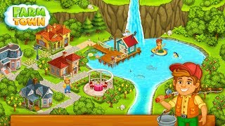 Farm Town: Happy village near small city and town Android Gameplay