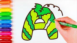 Рисуем буквы русского алфавита. Для детей.
