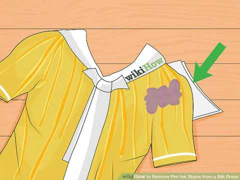 How to Remove Pen Ink Stains from a Silk Dress