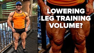 Christian Guzman and Lowering Leg Training Volume When Dieting?