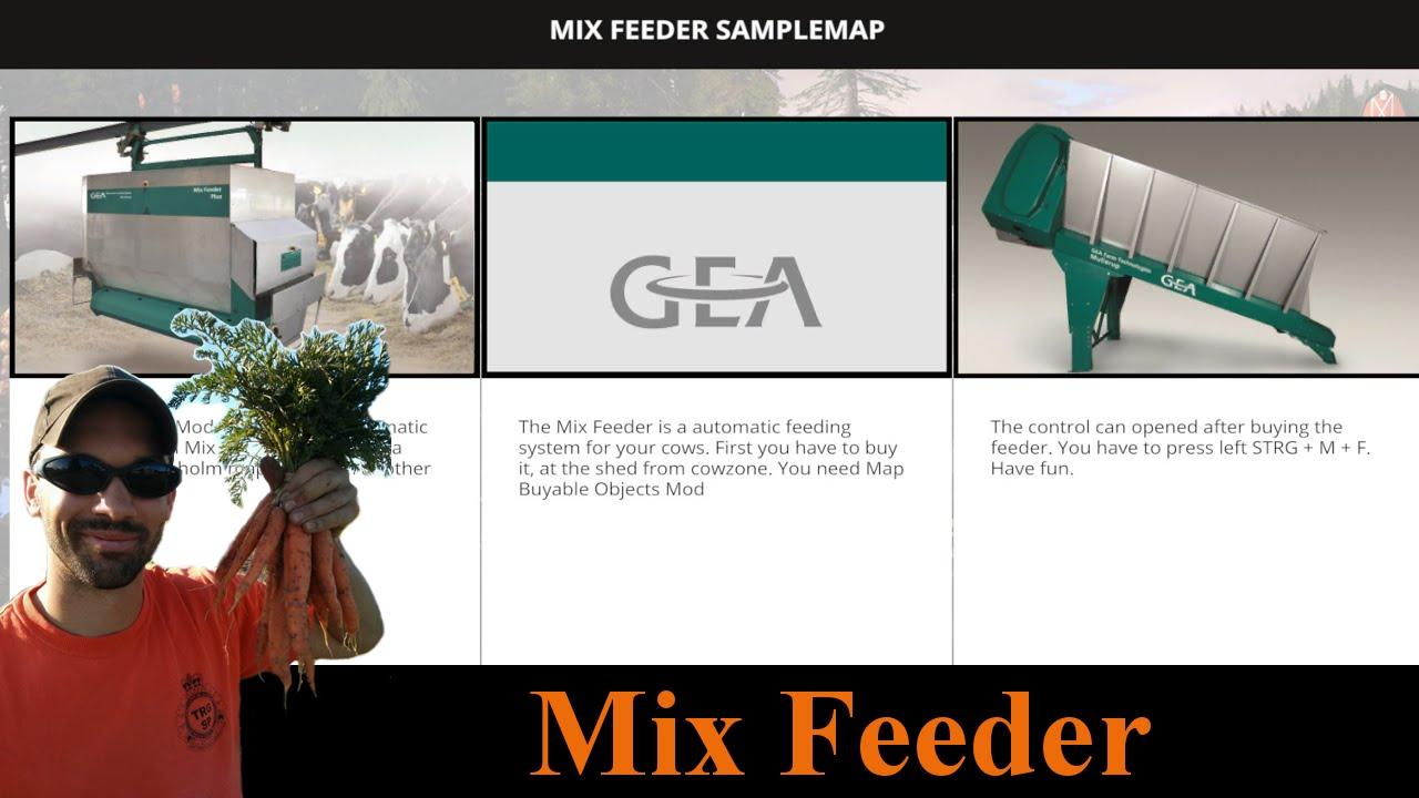 Farming Simulator Mods Mash Up Mix Feeder Needs GE Install - Farming simulator 2015 us map feed cows