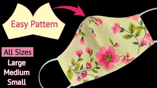 S M L Sizes Very Easy Pattern Mask Face Mask Sewing Tutorial Anyone Can Make This Mascarilla