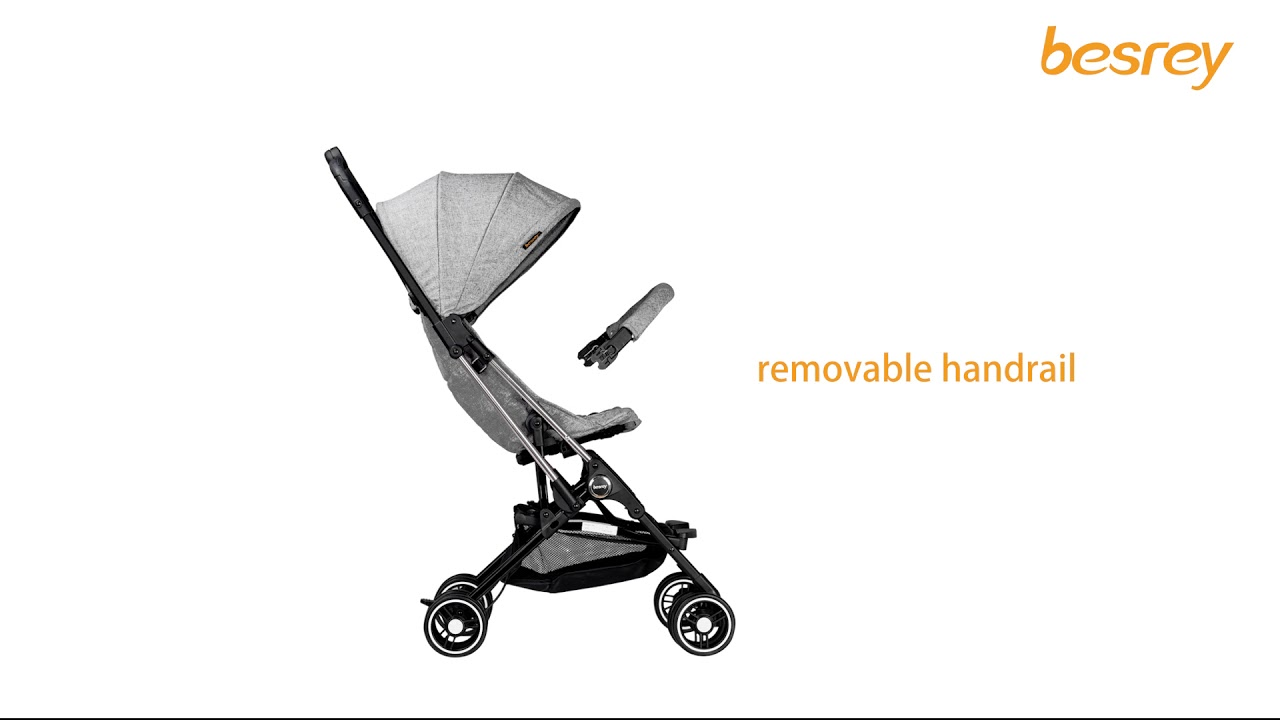 besrey for boarding capsule baby stroller compact small in size and easy to fold