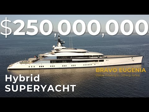 "Jerry Jones Gigayacht - $250,000,000 ""BRAVO EUGENIA"" in Seattle, WA (4K Drone - dji Mavic Air 2)"
