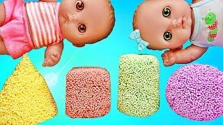 Куклы Пупсики открывают сюрпризы из мультиков Маша и Медведь, Свинка Пеппа. Дочки-матери. Зырики ТВ