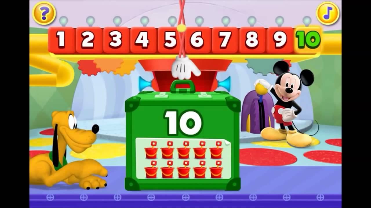 Amato Imparare i Numeri con La Casa di Topolino Disney Italiano Giochi  ST18
