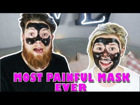 MOST PAINFUL CHARCOAL MASK EVER! Boyfriend & Girlfriend | Kelly and Carly Vlogs