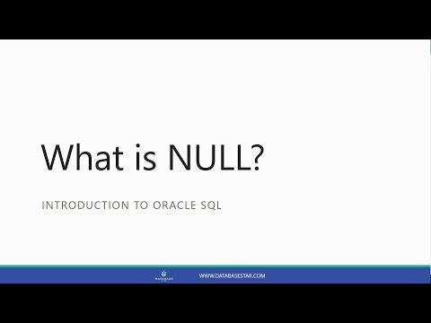 What Is NULL? (Introduction To Oracle SQL)