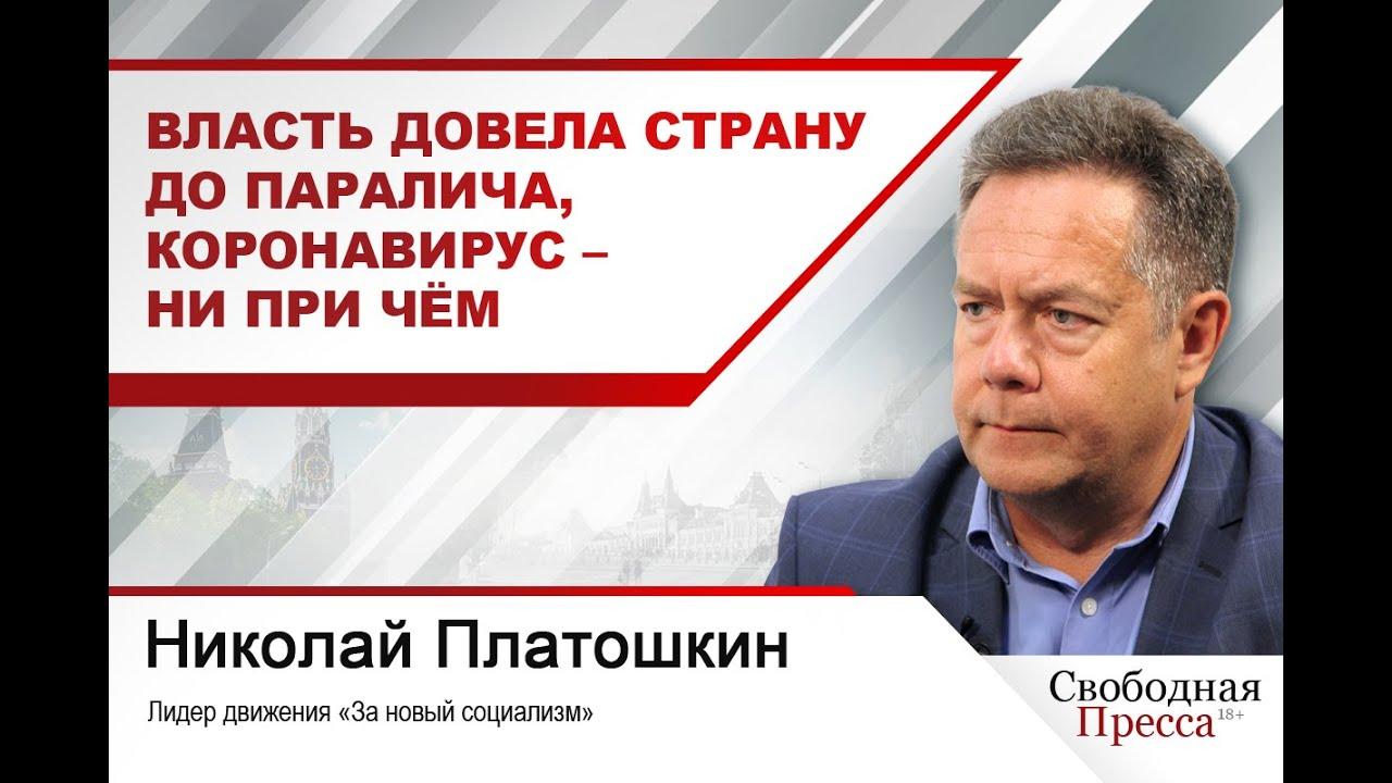 Николай Платошкин: Власть довела страну до паралича,  коронавирус – ни при чём