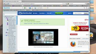 How  to upload images to photobucket.