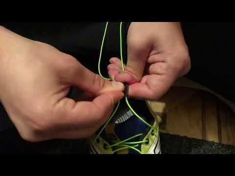 Замена шнурков на кроссовках Саломон