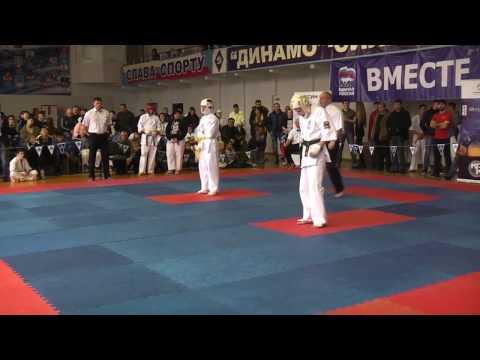 Всероссийские соревнования по киокусинкай каратэ Попов Г  Vs Гунин финал