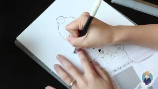 Персонаж в манга стиле. Использование G-pen и тона. Manga Speed Drawing