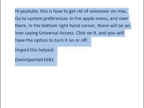 how to turn on voiceover on mac