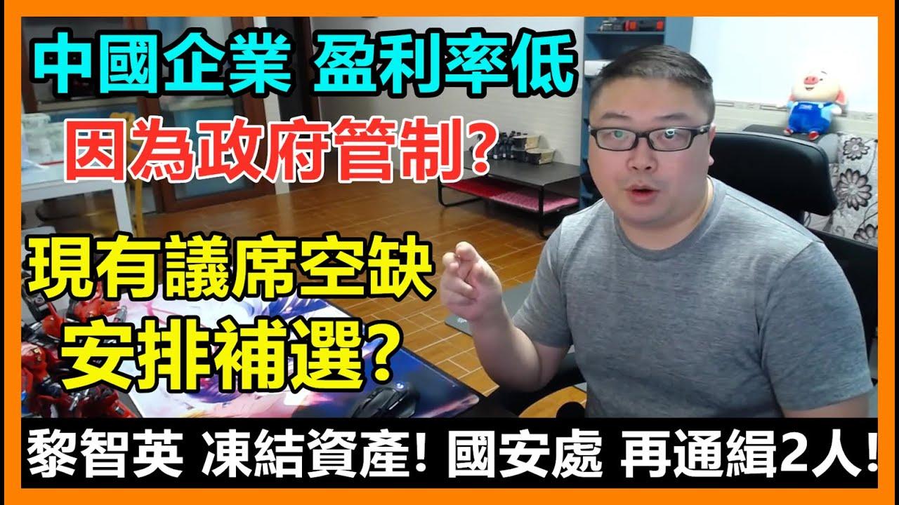 中國企業 盈利率低:因為政府管制?現有議席空缺:安排補選?黎智英 凍結資產! 國安處 再通緝2人!