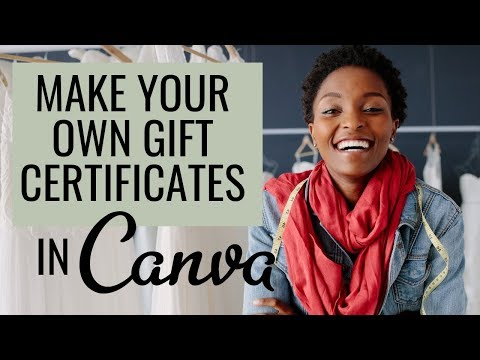 How To Make Your Own Gift Certificate | Canva Tutorial