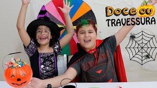ROLETA DE DOCES OU TRAVESSURAS DE HALLOWEEN 🎃 Pretend Play Halloween Trick or Treat