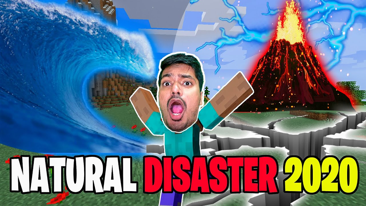 Lava Volcano Explosion 🔥🔥 Natural Disasters | minecraft hindi