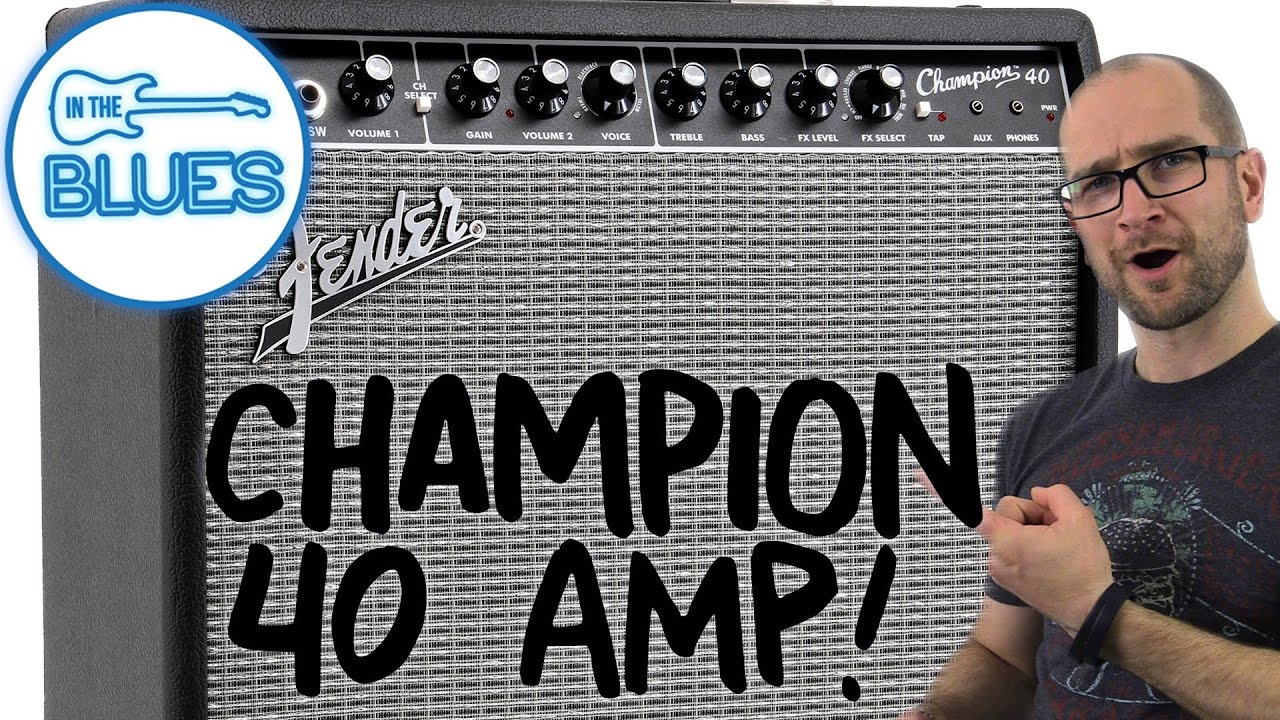 Fender Champion 40 Guitar Amplifier Demo Youtube Is It Ok To Put A Solid State Pedal Through Valve Amp Geekchat