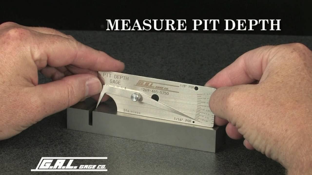 Pipe Pit Welding Gauge Pipeline Diameter Weld Undercut Depth Inspection Tool in Inch